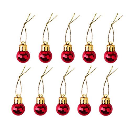 STOBOK 10 pcs Mini Boule De Noël Décor Arbre De Noël Boule Suspendue pour Décorations D'arbres De Noël