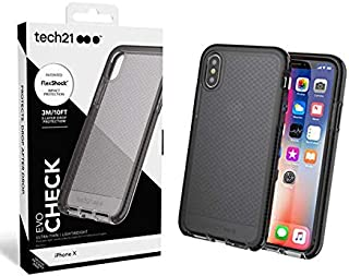 tech21 Evo Check Back Cover for iPhone X - clear black