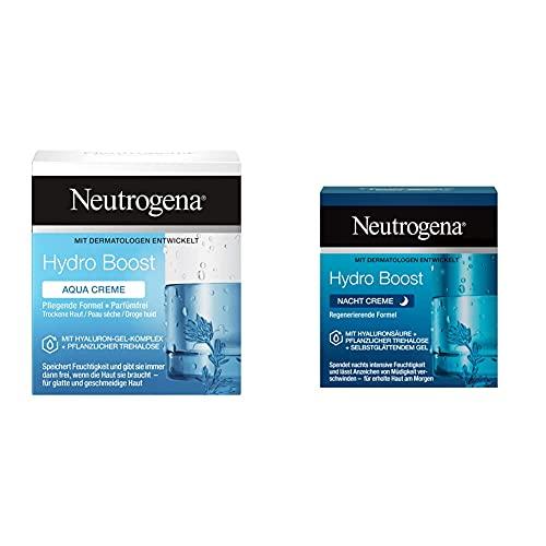 Neutrogena Hydro Boost Aqua Creme (50ml) - Feuchtigkeitsspendende Gesichtspflege mit Hyaluron und pflanzlicher Trehalose - öl- und parfümfreie Feuchtigkeitscreme & Hydro Boost Gesichtscreme, 50ml