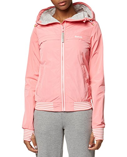 Bench Damen Easy Jacket SOLID Jacke, Rosa (Strawberry Pink PK11480), Large