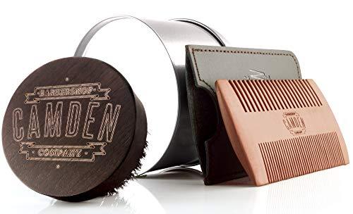 Cepillo y peine para barba  Set de Camden Barbershop Company  para el aseo diario de la barba  para la aplicación de aceite para barba