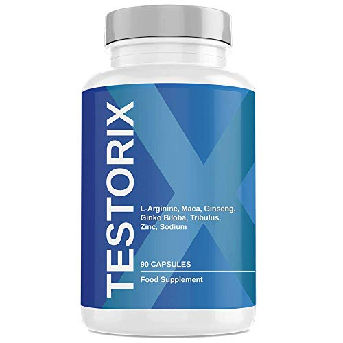 Testorix | Contributes to The Maintenance of Regular Testosterone Levels | Formula with Ginseng, Maca, L-arginine and Ginkgo Biloba | 90 Capsules