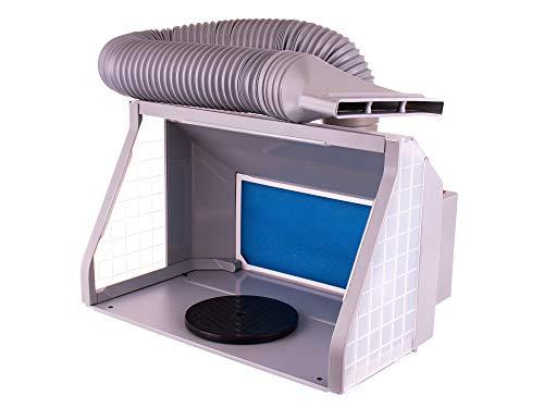 Airbrush Spritzkabine ZWEI VENTILATOREN Absauganlage Absaugleistung inkl. Beleuchtung und Drehteller als Zubehör und Lackierkabine für Airbrush Modellbau und Lackierarbeiten
