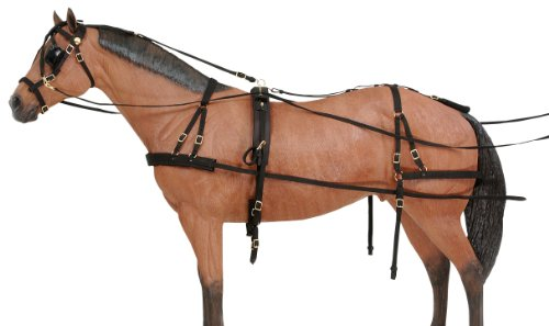 Tough 1 Deluxe Nylon Driving Harness, Horse