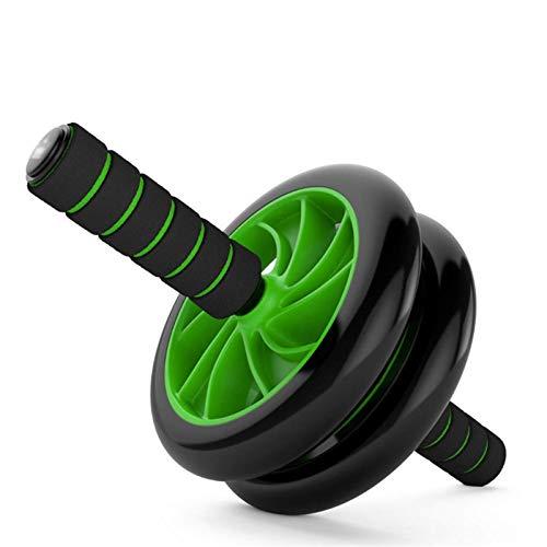 Ab Roller Abdominal Ab Roller Home Gym Fitness Gear Entrenador de abdominales con esterilla, máquina de doble rueda para ejercicios musculares, equipo de entrenamiento (color: verde)
