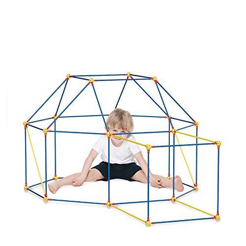 DIY Forts Steckstabbaukasten, Play Tent, Spielzelt, XXL Kantenmodell, Konstruktionsspiel, Bauspiel (210 Teile)