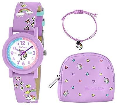 Tikkers - Juego de reloj, collar y monedero, diseño de unicornio, color lila
