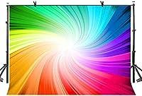 HD 10x7ftの抽象的な色の背景カラフルな渦巻き虹色抽象主義写真の背景アートStutio写真の背景小道具スタジオディスプレイ壁画LYLX434