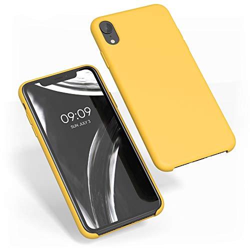 kwmobile Cover Compatibile con Apple iPhone XR - Custodia in Silicone TPU - Back Case Protezione Cellulare Giallo Zafferano