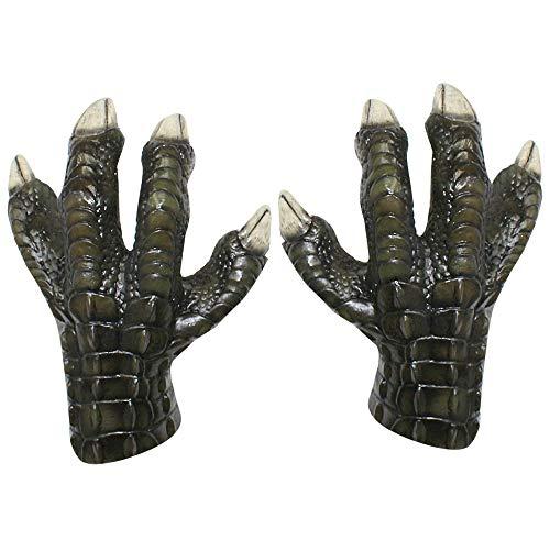 Adult Velociraptor Claws Costume Gloves Grey