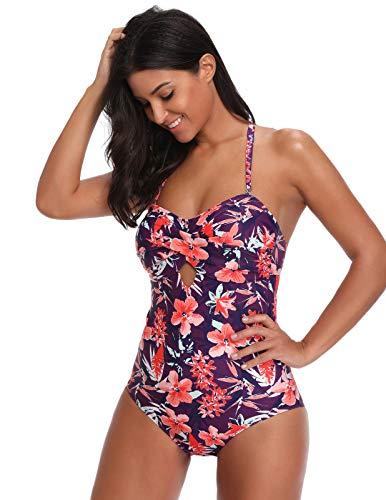 GRACE KARIN Bañador de Mujer Bikini Ropa de Baño de Una Pieza Multicolor