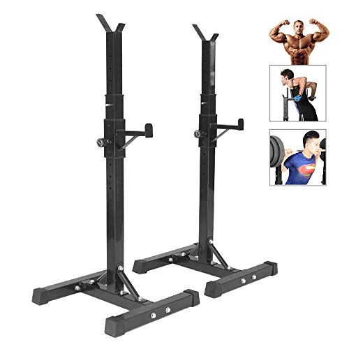 Adjustable Squat Rack Barbell Rack, Max.Load 250 Kg,Bench Press Weight...