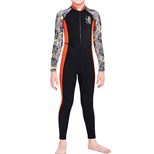 YAMTHR Kids Wetsuit for Boys and Girls Full Swimsuit Premium Neoprene Thermal Wetsuit UV Protection One Piece for Toddler Infant Baby Children (Boy