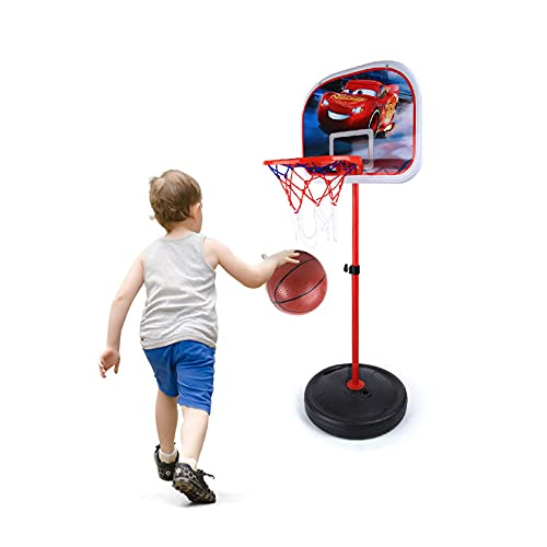 ZXCVB Juguete de baloncesto para niños con altura ajustable para interior y hogar, juguete de fitness, regalo de cumpleaños pequeño