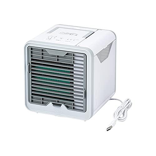 ショップジャパン ここひえ R3 2021年 リニューアル 扇風機 冷風扇 卓上扇風機 ミニクーラー 防カビフィルター【正規品】 176×189×173㎜ CCHR3AM1 ホワイト