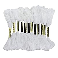 PLUS CREATE 刺繍糸(白) 12束セット 刺しゅう糸 原色 白 B5200