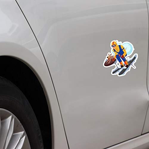 RUIRUI Hund Ski mit dem Jungen Fitness Motion Zubehör Auto Aufkleber 12,7 * 11,8 cm