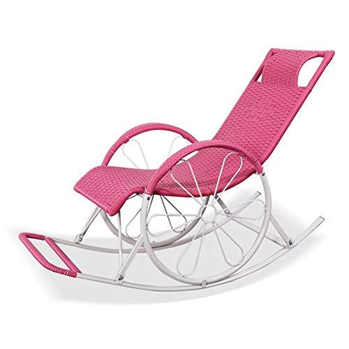 LIXIONG Schaukelstuhl Haushalt Lounge-Sessel All Wetter Sessel Sonne Liegen Mit Kissen Handgemacht Veranden Hinterhöfe, 4 Stil (Color :...