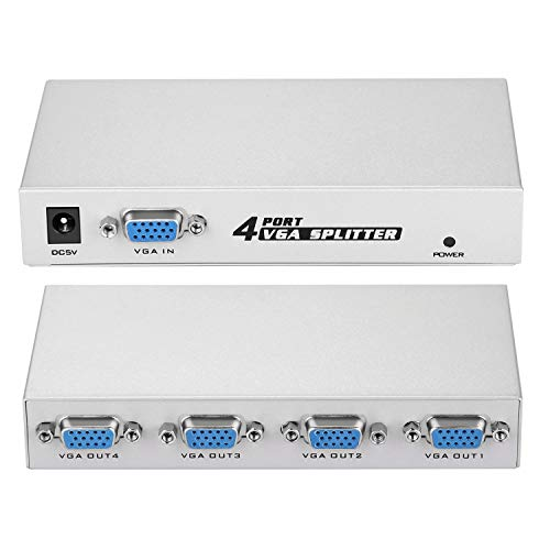 IMAGE 1 PC to 4 Monitors Splitter Box VGA/SVGA LCD CRT 4 Port Video