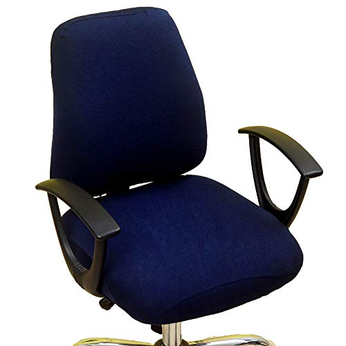 wonderfulwu Fundas elásticas para silla de oficina de Spandex funda para silla de ordenador extraíble lavable giratoria silla fundas protectoras