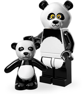 LEGO Minifiguren Movie Edition (Serie 12): Panda-Mann