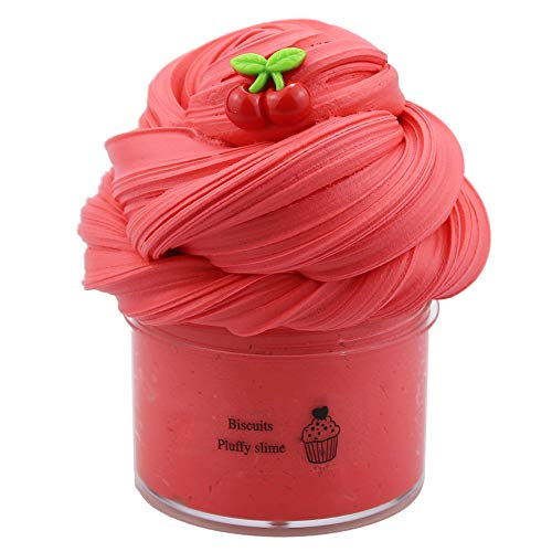 SWZY Fluffy Slime,Cherry Slime,Butter Slime,Cloud Slime Putty Stress Relief Toy Stress Relief DIY Juguetes para niños Adultos...200ML