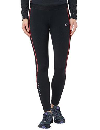Ultrasport Damen Laufhose lang, black dubarry, XS, 10126