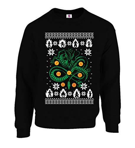 Grafische Impact Grappig Geïnspireerd Draak en Bal Gamers Lelijke Kerst Sweater Kerstmis Jumpers