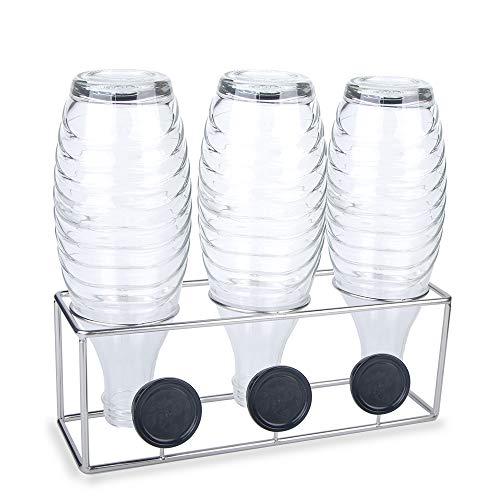 HunDun SodaStream Flaschenhalter, Abtropfhalter aus Edelstahl für Crystal, Emil- und Glasflaschen, spülmaschinenfest
