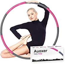 Auoxer Fitness Exercise Weighted Hoola Hoop, Lose Weight by Fun Way to Workout, Fat Burning Healthy Model Sports Life, Detachable and Size Adjustable
