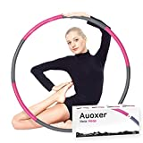 Auoxer Fitness Exercise Weighted Hoola Hoop, Detachable and Size Adjustable Design, Lose Weight Fast by Fun Way, Fat Burning Healthy Model Sports Life