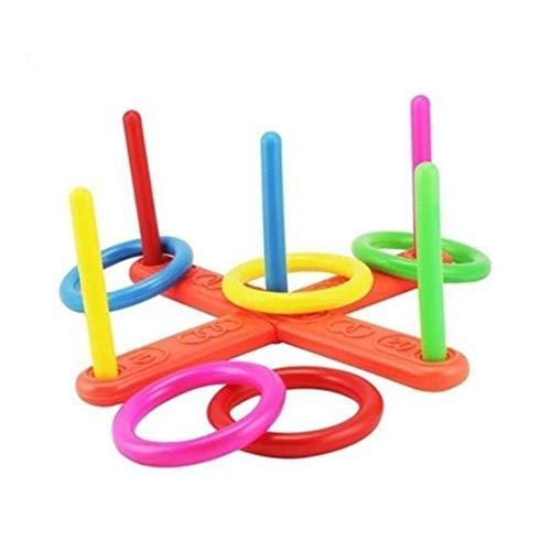 Carry stone Premium-Qualität Hoop Ring werfen Kunststoff Quoits Garten Spiel Pool Spielzeug im Freien Familie Kids Fun Set