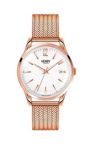 Henry London Reloj Analógico para Unisex de Cuarzo con Correa en Acero Inoxidable 5018479077640