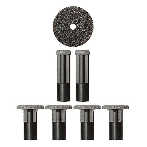 Discos de repuesto PMD Personal Microderm - Incluye 2 discos pequeños, 4 grandes y 1 filtro - Para uso con Classic, Plus, Pro y Man - Cuerpo/ Negro