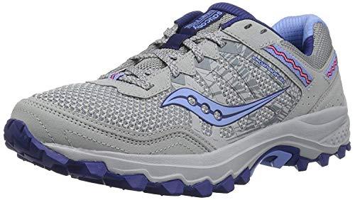 Saucony Women's Excursion TR12 Sneaker, Grey/Blue, 10.5 M US