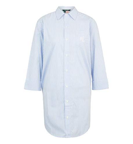Ralph Lauren, Heritage Essentials I815197 - Camiseta con botones para mujer azul claro S