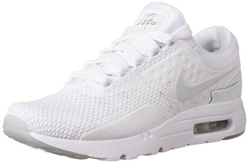 Nike Mens Air Max Zero QS Running Shoe (10 D(M), White/Pure Platinum/Pr Pltnm)