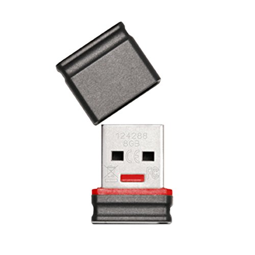 Platinum 8 GB Mini USB-Stick USB 2.0 schwarz