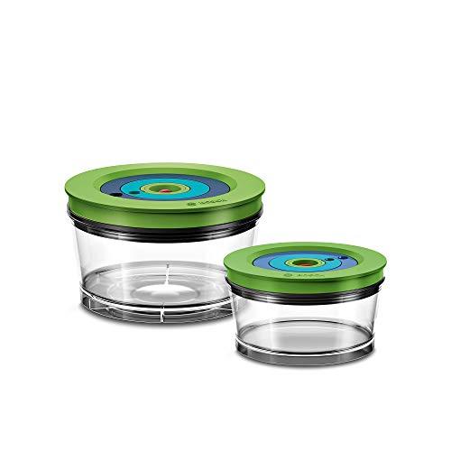 Bosch Hausgeräte MMZV0SB2 Standmixer Frischhaltedosen für den Vakuum-Mixer VitaMaxx, Kunststoff, transparent
