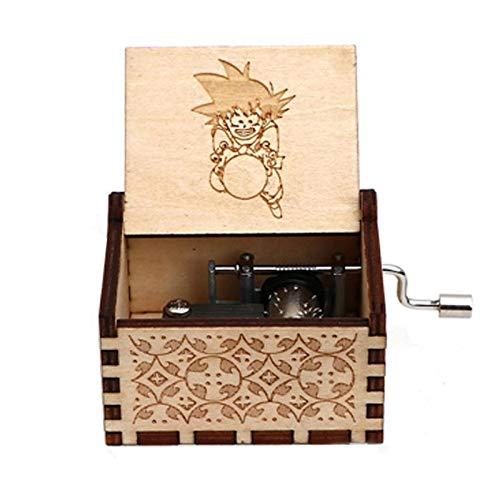 XWF Cajas Musicales Regalo de la Vendimia de Madera Hecho a Mano Grabado por la Caja de la Bola del dragón temático Tapion Música Pecho Goku Vegeta Caja de música (Color : 07)