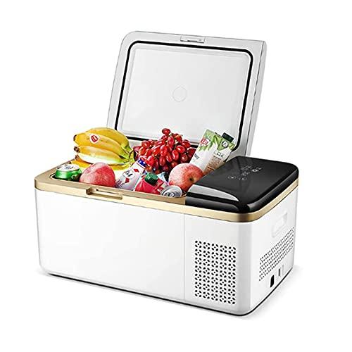 SETSCZY Mini refrigerador portátil para automóvil, congelador eléctrico con Caja de enfriamiento para Uso doméstico, RV, Viaje, Camping, con Pantalla Digital LED, -20-a 20 ℃ (-4 ℉ -68 ℉)