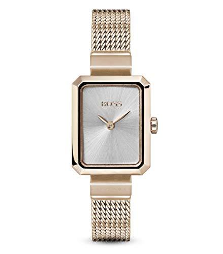 Hugo Boss Damen Analog Quarz Uhr mit Roségold Armband 1502432