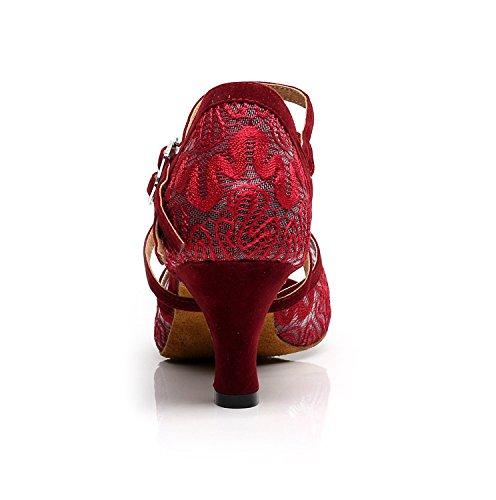 MINITOO , Damen Tanzschuhe, rot – Red-6cm Heel – Größe: 41 - 3