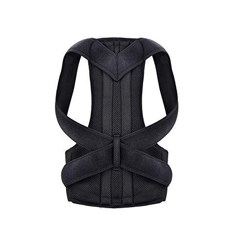 Upper Back Shoulder Adjustable Back Trainer Posture Corrector for Men and Women Back Posture Brace Clavicle Support Stop Slouching and Hunching,Black,XL