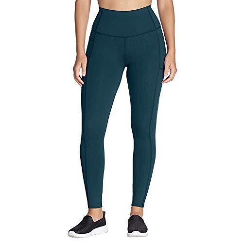 Skechers GoFlex Damen Yoga-Leggings, hohe Taille, 2 Taschen - Grün - Klein