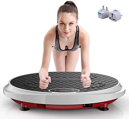 DPLQX Vibrationsplatte Fitness, Vibrationsgerät mit Fernbedienung und Widerstand-Bänder Fernbedienung 99 Level, Fitnesstraining von Zuhause,Black