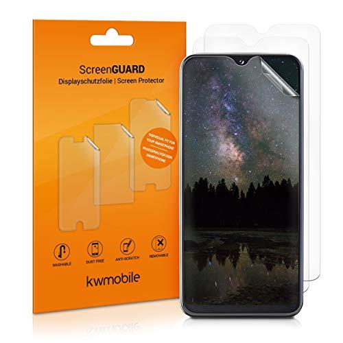 kwmobile 3x pellicola salvaschermo compatibile con Samsung Galaxy A20e - Film protettivo proteggi telefono - protezione antigraffio display smartphone