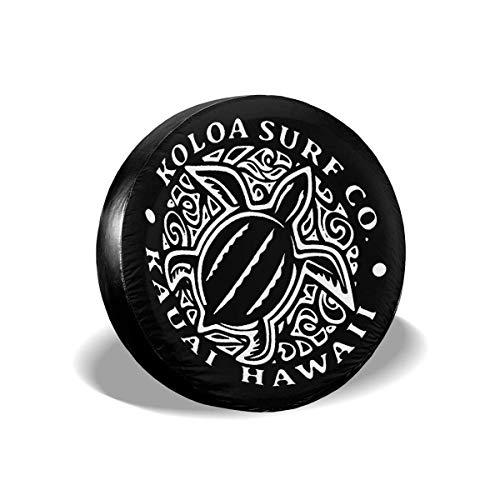 Drew Tours Surf Hawaiian Turtle Honu Cubierta del neumático del Coche Rueda de Repuesto Cubierta del neumático para Ajuste para Remolque, RV, SUV y Varios vehículos 16 Pulgadas