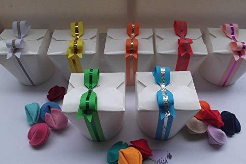 10 Glückskekse aus Filz in einer Box als Gastgeschenk, Partygeschenk, Geburtstagsgeschenk, für ein Geldgeschenk, zu Weihnachten