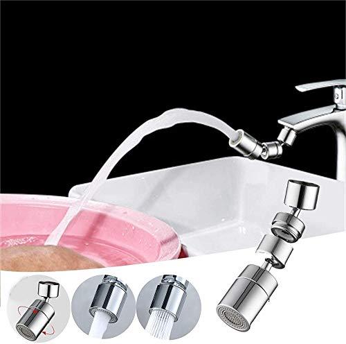 MLFPDXC-Extensor de grifo 4# 360 de latón giratorio que ahorra agua grifo aireador rociador aireador del fregadero con grifo giratorio de 360 grados utensilios de cocina (color: A)